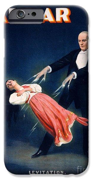 Spell iPhone Cases - Kellar Levitation Vintage Magic Poster iPhone Case by Vintage Poster