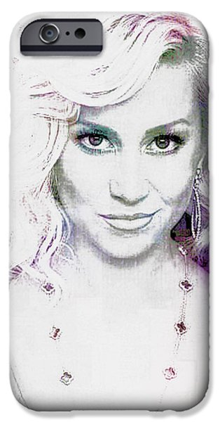 Michael Mixed Media iPhone Cases - Kellie Pickler iPhone Case by M and L Creations