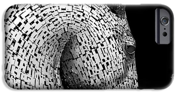 The Horse iPhone Cases - Kelpies iPhone Case by Tim Gainey