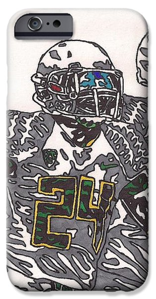 Kenjon Barner and Marcus Mariota iPhone Case by Jeremiah Colley