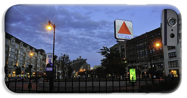 Fenway Park iPhone Cases - Kenmore Square  iPhone Case by Catherine Reusch  Daley