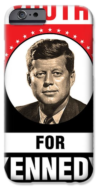 President iPhone Cases - Kennedy Political Poster iPhone Case by Gary Grayson