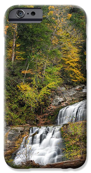 Kent Connecticut iPhone Cases - Kent Falls Autumn iPhone Case by Bill  Wakeley