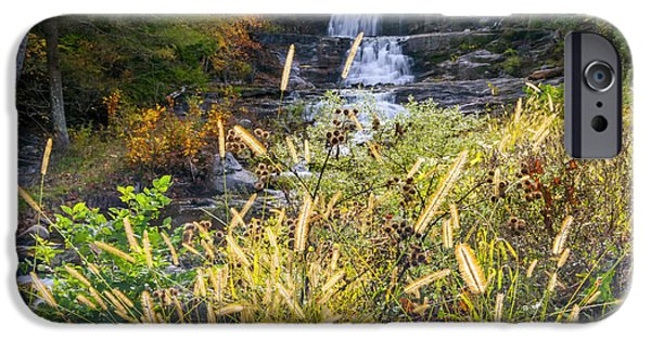 Fall Scenes iPhone Cases - Kent Falls iPhone Case by Bill  Wakeley