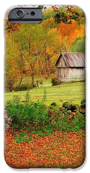 Kent Hollow-Connecticut autumn scenic iPhone Case by Thomas Schoeller