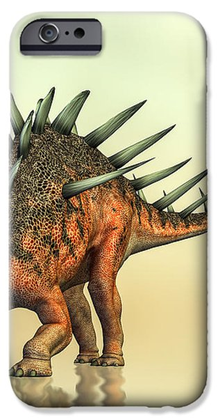 Kentrosaurus Dinosaur iPhone Case by Bob Orsillo