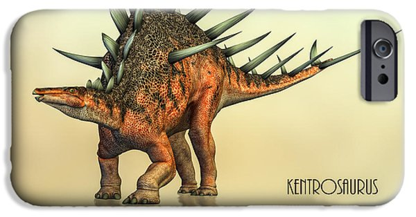 Extinct iPhone Cases - Kentrosaurus Dinosaur iPhone Case by Bob Orsillo
