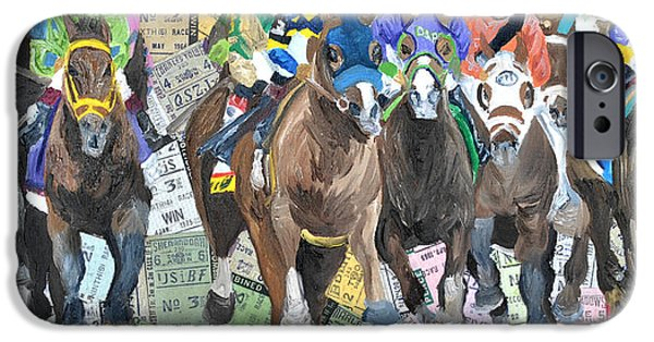 Michael Mixed Media iPhone Cases - Kentucky Derby 2014 iPhone Case by Michael Lee