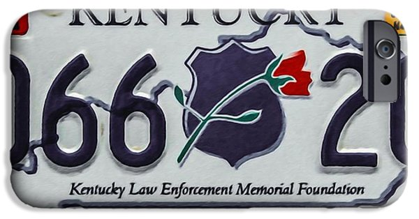 Law Enforcement Paintings iPhone Cases - Kentucky Law Enforcement Memorial Foundation iPhone Case by Lanjee Chee