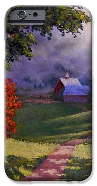 Pathway Pastels iPhone Cases - Kentucky Road iPhone Case by Candice Ferguson