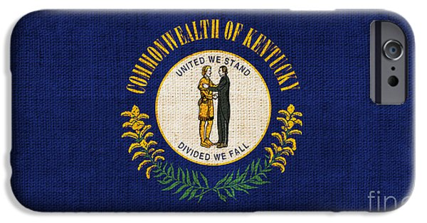 Declaration Of Independence Digital iPhone Cases - Kentucky State Flag iPhone Case by Pixel Chimp