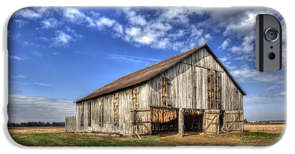 Daviess County Photographs iPhone Cases - Kentucky Tobacco Barn iPhone Case by Wendell Thompson