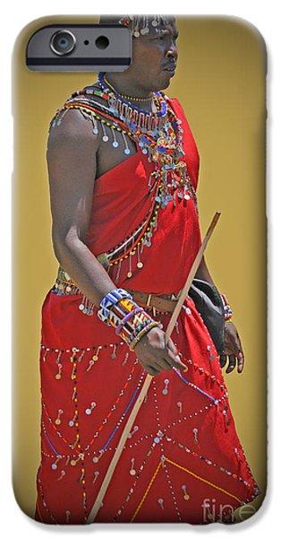 Smithsonian iPhone Cases - Kenya Warrior iPhone Case by Jost Houk