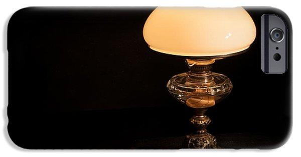 Night Lamp iPhone Cases - Kerosene Lamp iPhone Case by Torbjorn Swenelius