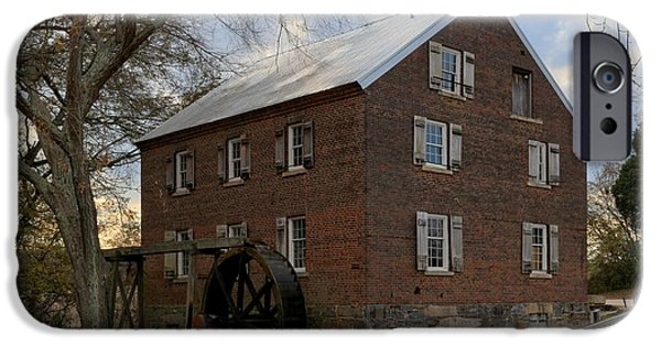 Grist Mill iPhone Cases - Kerr Grist Mill Closeup iPhone Case by Adam Jewell