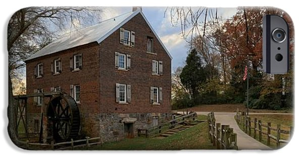 Grist Mill iPhone Cases - Kerr Grist Mill Fall Panorama iPhone Case by Adam Jewell