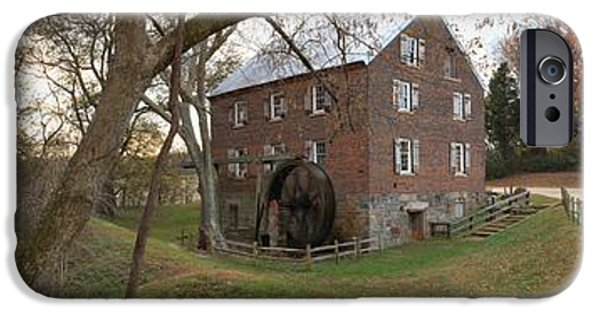 Grist Mill iPhone Cases - Kerr Grist Mill Landscape Panorama iPhone Case by Adam Jewell