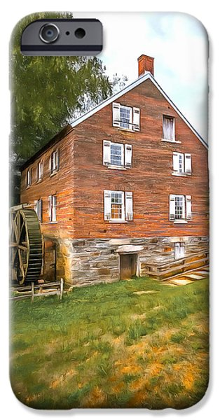 Grist Mill iPhone Cases - Kerr Grist Mill iPhone Case by Marion Johnson
