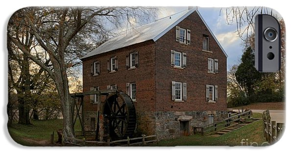 Grist Mill iPhone Cases - Kerr Grist Mill Sunset iPhone Case by Adam Jewell