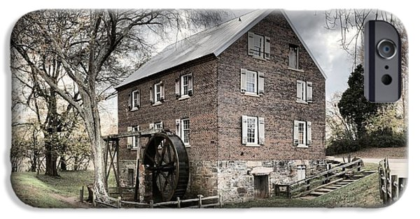 Grist Mill iPhone Cases - Kerr Gristmill In North Carolina iPhone Case by Adam Jewell