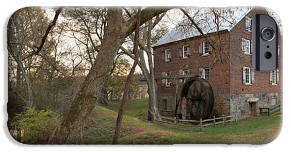 Grist Mill iPhone Cases - Kerr Mill Panorama Landscape iPhone Case by Adam Jewell