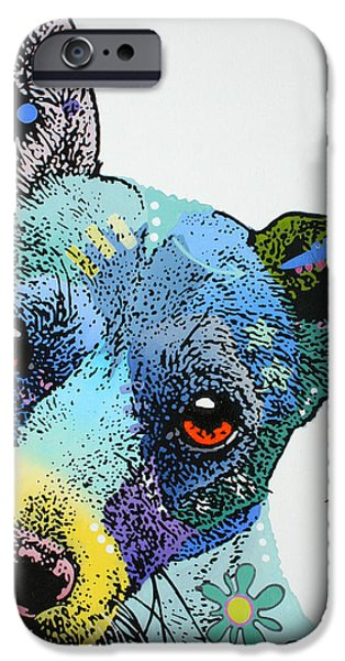 Fox Terrier iPhone Cases - Kerry iPhone Case by Luis Ludzska