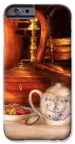 Kettle -  Have some Tea - Chinese tea set iPhone Case by Mike Savad