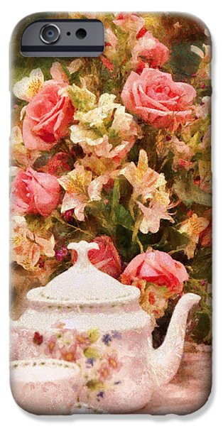 Kettle - More tea Milady  iPhone Case by Mike Savad