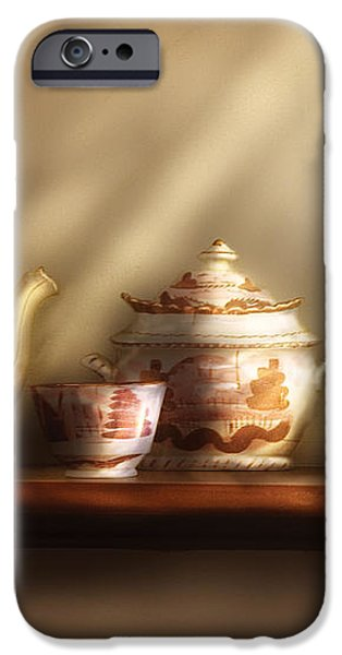 Kettle - My Grandmother's Chinese Tea Set  iPhone Case by Mike Savad