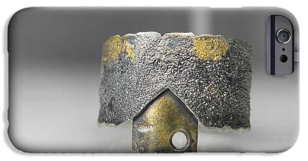 Texture Jewelry iPhone Cases - Keum Boo silver ring with patina iPhone Case by Vesna Kolobaric