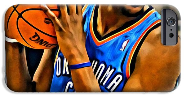 Slam Photographs iPhone Cases - Kevin Durant Portrait iPhone Case by Florian Rodarte