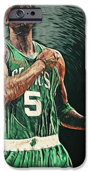 Paul Pierce iPhone Cases - Kevin Garnett iPhone Case by Taylan Soyturk
