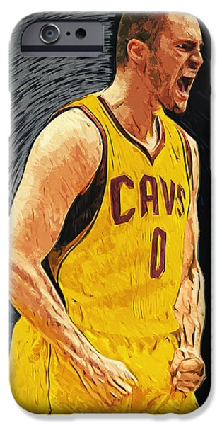 American Basketball Player iPhone Cases - Kevin Love  iPhone Case by Taylan Soyturk