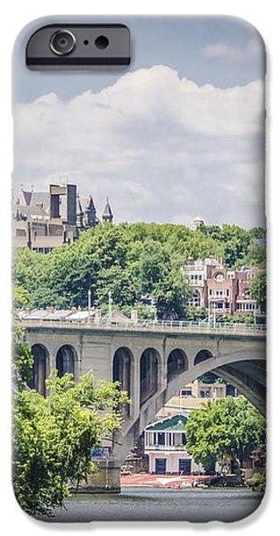 Key bridge and Georgetown University iPhone Case by Bradley Clay