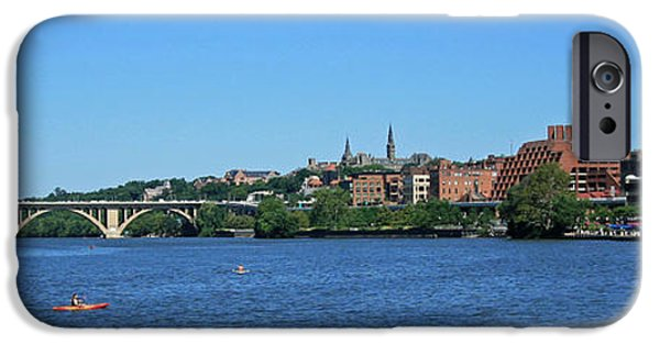 Cora Wandel iPhone Cases - Key Bridge Goes To Georgetown iPhone Case by Cora Wandel