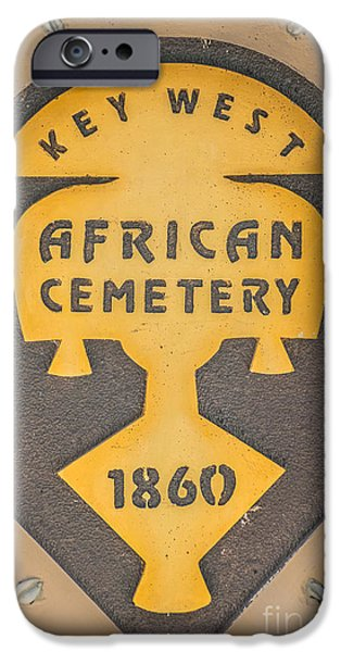 Slaves iPhone Cases - Key West African Cemetery 3 - Key West - HDR Style iPhone Case by Ian Monk