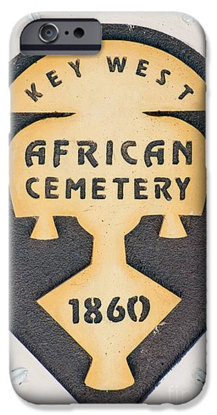 Slaves Photographs iPhone Cases - Key West African Cemetery 3 - Key West iPhone Case by Ian Monk
