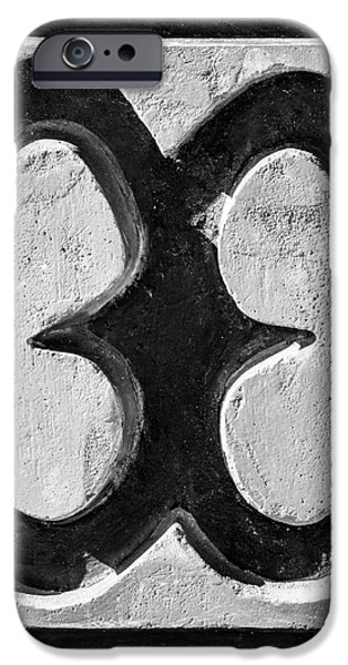 Key West African Cemetery 4 - Key West - Square - Black and Whit iPhone Case by Ian Monk