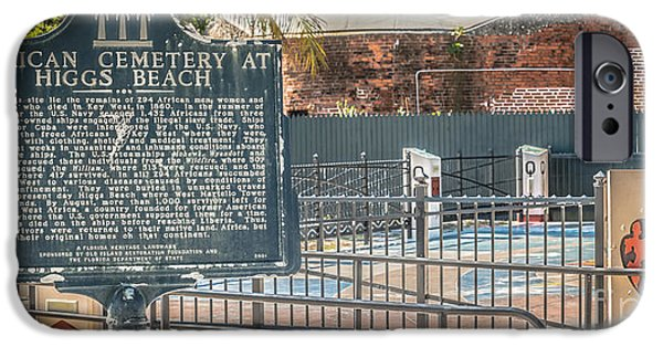 Slaves Photographs iPhone Cases - Key West African Cemetery 7 - Key West - Panoramic - HDR Style iPhone Case by Ian Monk