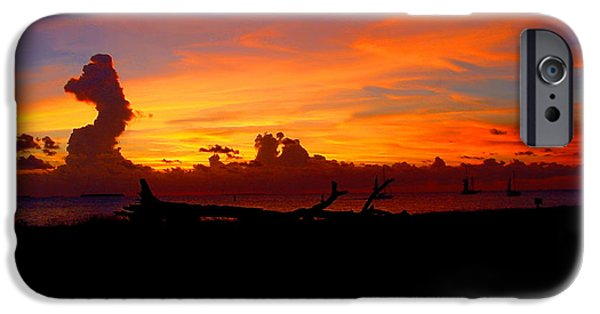 Collectible Mixed Media iPhone Cases - Key West Sun Set iPhone Case by Iconic Images Art Gallery David Pucciarelli