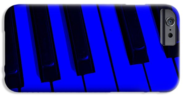 Piano iPhone Cases - Keyboard Blues iPhone Case by John Stephens