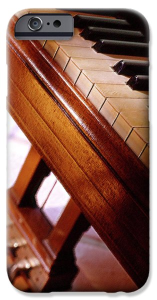 Grand Piano iPhone Cases - Keys iPhone Case by Mike McGlothlen