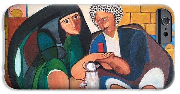 Baghdad Paintings iPhone Cases - Khadri El Chai Khadri  iPhone Case by Rami Besancon