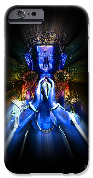 Bodhisattva iPhone Cases - Kharachheri iPhone Case by Tim Gainey