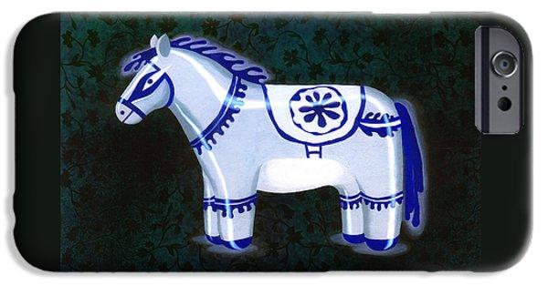 Antiques Sculptures iPhone Cases - Khurja blue pottery antique iPhone Case by Renu K