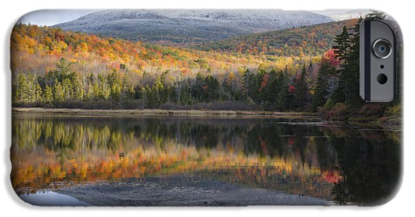 New Hampshire Fall Scenes iPhone Cases - Kiah Pond - Sandwich New Hampshire USA iPhone Case by Erin Paul Donovan