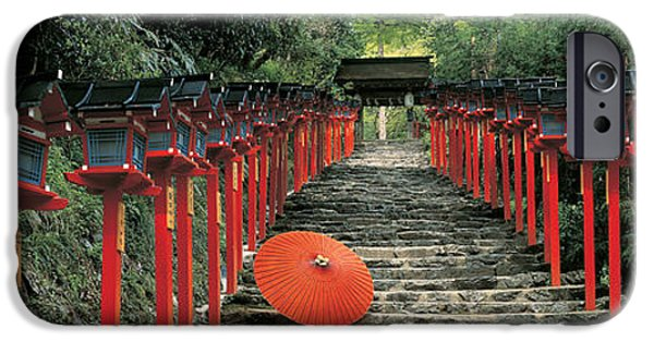 Pathway iPhone Cases - Kibune Shrine Kyoto Japan iPhone Case by Panoramic Images