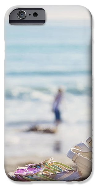Kick off your shoes... and play iPhone Case by Cindy Garber Iverson