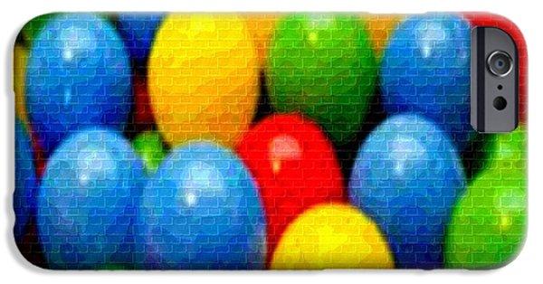 Abstract Digital Paintings iPhone Cases - Kiddies Room H b iPhone Case by Gert J Rheeders