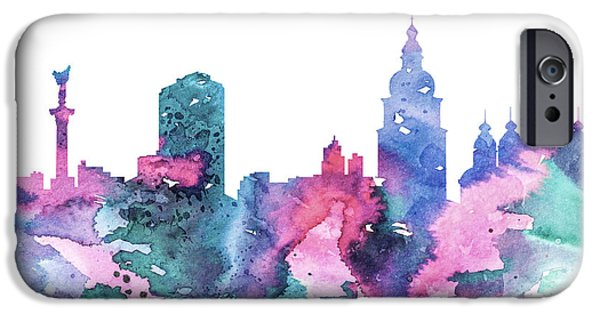Maps Paintings iPhone Cases - Kiev iPhone Case by Luke and Slavi
